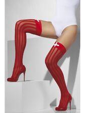 Sheer Hold-ups Ladies Red Nurses Nurse Fancy Dress Accessory
