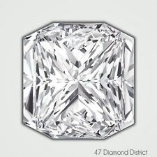 1.06ct. G-VVS2 Ex Cut Square Radiant AGI Certified Diamond 5.86x5.34x3.95mm