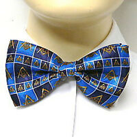 Masonic Bowtie Freemason Lodge Attire. Pre-tied Blue bow tie boxed pattern
