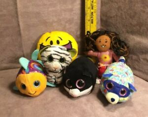 McDonald's Misc Plush Lot w/Ty Beanie Cara the Cat, 2019 Beanie Boo, Emoji