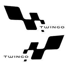 2 stickers bas de caisse RENAULT TWINGO ref 81 racing tuning autocollant sport