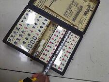 Portable Retro Chinese Mahjong Rare 144 Mah-Jong Set Piece W/Box High-End