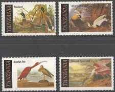 Timbres Oiseaux Tanzanie 277/80 ** lot 15797