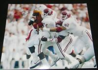BRIAN BOSWORTH AUTOGRAPHED SIGNED OKLAHOMA SOONERS VS TEXAS 16x20 PHOTO JSA