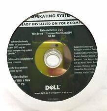 Disco DVD Originale Microsoft Windows 7.1 Home Premium 64bit Dell FULL DVD NUOVO