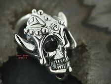 Ketten Anhänger Totenkopf Skull Wikinger Krieger viking Warrior Celtic Silber925