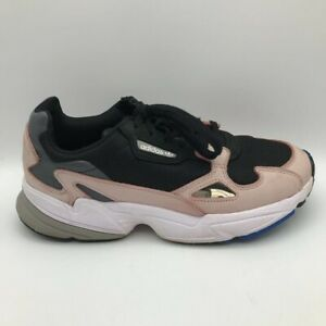 Adidas Womens Falcon Running Shoes Black Pink B28126 Low Top Lace Up Sneakers 9M