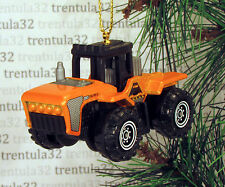 Four Wheel Drive FARM TRACTOR Farming CHRISTMAS ORNAMENT Yellow/Orange 4x4 XMAS