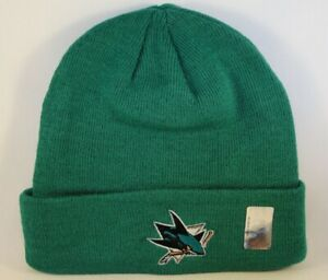 San Jose Sharks NHL Zephyr Cuffed Knit Hat Green