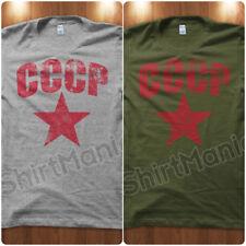 T-Shirt Maglietta CCCP Esercito Unione Sovietica Comunista Russia URSS Uomo WHT