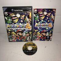 GOOD Mario Party 4 Nintendo Gamecube Complete Black Label! Super Fun Mini Games