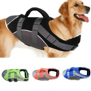Dog Life Jacket with Soft Handle Safety Vests for Swimming Swimsuit Preserver