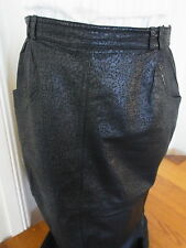 MORMA MODELL Black Leather patterened details Skirt Nina Proudman Style B12