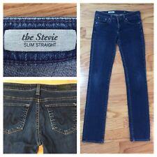 ADRIANO GOLDSCHMIED AG Womens sz 26 x 30 The Stevie Slim Straight Dark Jeans