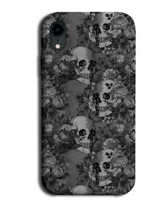Gothic Skulls With Flowers Phone Case Cover Floral Skeleton Faces Heads G054