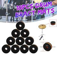 10 Pcs/set Durable Cymbal Stand Foam Felts Washers for Drum Bract Mats   U