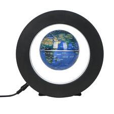 Magnetic Levitation Floating Earth Globe World Map O Shape Base LED Light Cool