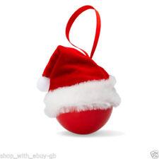 Adornos de Papá Noel de plástico para árbol de Navidad