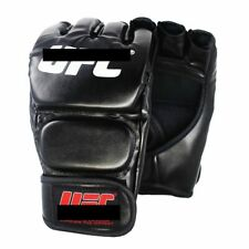Men's Black Gloves Fighting Leather Foam MMA Boxing Sports Boxing Mittens Pads