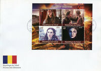 Chad 2018 FDC Game of Thrones Cersei Lannister Sansa Stark 4v M/S Cover Stamps
