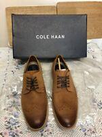 Cole Haan Men Casual Shoes Original Grand Shortwing Oxfords British Tan,size10uk