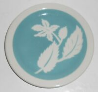 Wallace China Restaurant Ware Lt Blue Airbrushed Leaves Bread Plate