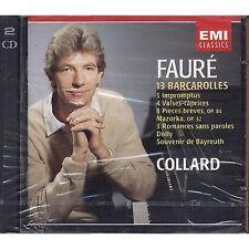 FAURE' - Barcarolles, Impromptus JEAN-PHILIPPE COLLARD 2 CD EMI 1990 SEALED