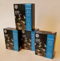GE String a Long 100 Count Indoor/Outdoor Mini White Patio Lights- 82ft Lot of 4