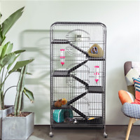 "52"" Animal Habitat Cage w/Stand and Feeder Ferret Chinchilla Small Animal House"