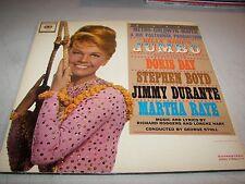 JUMBO SOUNDTRACK DORIS DAY MARTHA RAYE BOYD DURANTE LP EX Columbia OL5860 1962