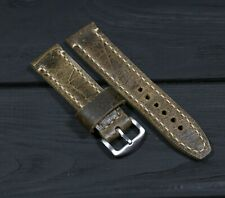 Brown Leather Watch Strap Soft Thick English leather watch band Omega Man gift