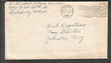 WWII cover Lt Gilbert Coleman West South St Galesburg IL to NY