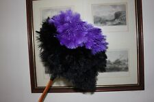 EXTRA LARGE 150 GRM FIRST GRADE OSTRICH FEATHER DISPLAY DUSTER PURPLE/BLACK