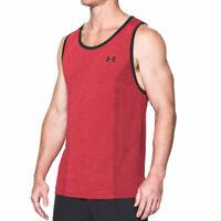 Under Armour UA Threadborne Mens Seamless Tank Black Gym Sports Training Vest S