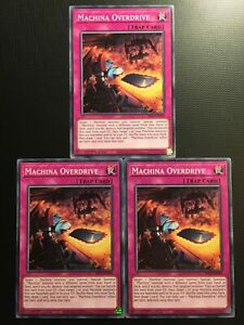 YUGIOH!! 3x Machina Overdrive SR10-EN034! Common! Near Mint! 1st!