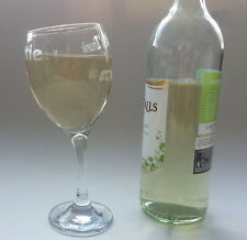 WINE GLASS   PERSONALISED  Etched 300ml Onabenda tilted Novelty Glass