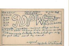 1923 9DPW  Marshalltown Iowa.. QSL radio card
