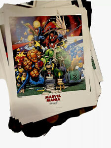 RARE!! 1998 Chris Bachalo numbered poster Marvel Mania Signed Stan Lee