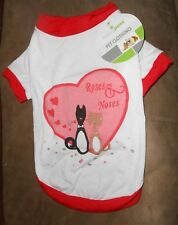 """Happy Paws Pet Clothing - """"Roses & Noses"""" Shirt - Size Small - Brand NEW w/Tag"""