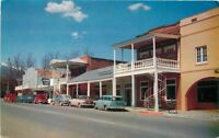 Autos Street 1950s Trinity County Postcard Weaverville California Eastman 401