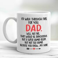 To My Dad Coffee Mug Funny Father's Day Gifts From Son Daughter For Daddy Cup