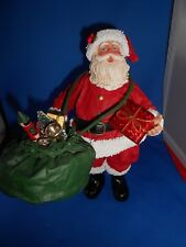 Fabriche Santa With Bag of Gifts & Goodies Collectible Figurine by Kurt S. Adler
