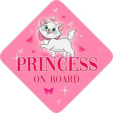 Non personalised Princess on Board, Child Baby On Board Car sign ~ Aristocats