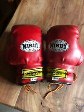 WINDY 14 OZ BOXING GLOVES RED/YELLOW