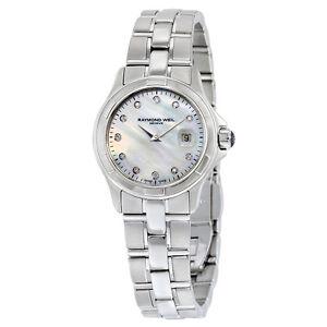 Raymond Weil Watch Parsifal 11 Diamond Steel Bracelet 9460-ST-97081 NEW! 27755