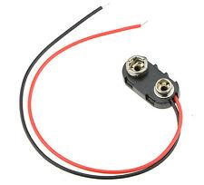 10x PP3 Batería De 9v Conector De Clip Para El Coche De Rc Avión Barco helicóptero 150mm Cables