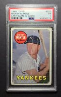 1969 Topps Mickey Mantle #500 WHITE LETTERS PSA 1 New York Yankees Rare Vintage