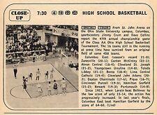 1969 TV AD~CLASS AA OHIO HIGH SCHOOL BASKETBALL~ST JOHN ARENA~COLUMBUS EAST