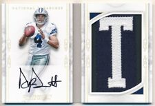 DAK PRESCOTT 2016 NATIONAL TREASURES RC BOOKLET AUTO LETTER T PATCH AUTO SP #1/8