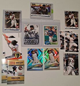 Lot of (14) Ronald acuna Jr ROOKIE 2018 Topps archives 212 + update + refractors